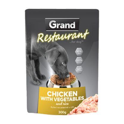 Obrázek Grand Deluxe Restaurant kuřecí na zelenině, kapsa 300 g