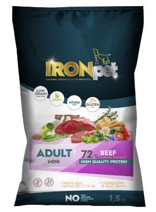 Obrázek IRONpet Dog Mini Adult Beef (Hovězí) 1,5 kg