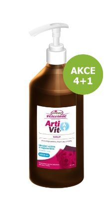 Obrázek Vitar Veterinae Artivit sirup s pumpičkou 1000 ml AKCE 4 + 1 ZDARMA