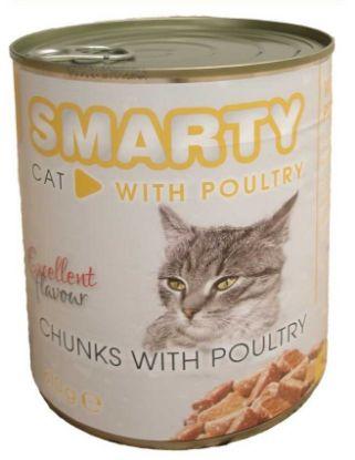 Obrázek SMARTY chunks Cat Drůbeží 810 g