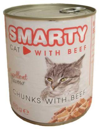 Obrázek SMARTY chunks Cat Hovězí 810 g