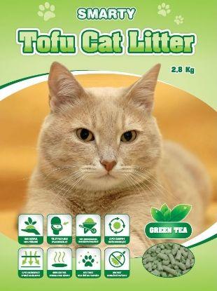 Obrázek Smarty Tofu Cat Litter Green Tea podestýlka 6 l