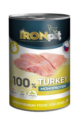 Obrázek IRONpet Dog Turkey (Krůta) 100 % Monoprotein, konzerva 400 g
