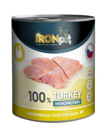 Obrázek IRONpet Dog Turkey (Krůta) 100 % Monoprotein, konzerva 800 g