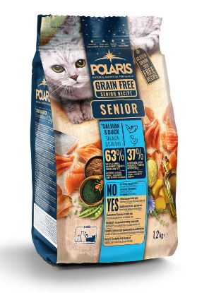 Obrázek Polaris Cat Senior losos & kachna 1,2 kg