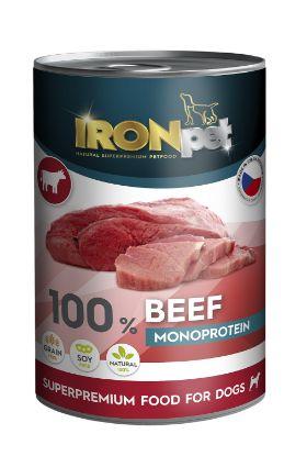 Obrázek IRONpet Dog Beef (Hovězí) 100 % Monoprotein, konzerva 400 g