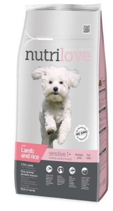 Obrázek Nutrilove pes Sensitive Small Breed jehněčí, granule 8 kg