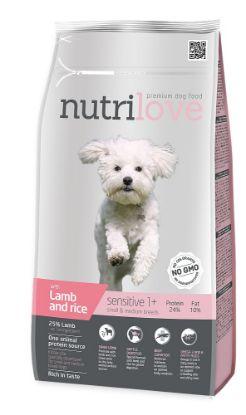 Obrázek Nutrilove pes Sensitive Small Breed jehněčí, granule 1,6 kg